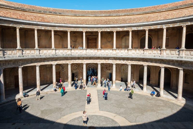 Grande vue Alhambra Palacio de Carlos V photographie stock