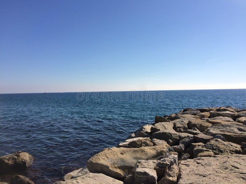 Grande vue d'océan images libres de droits