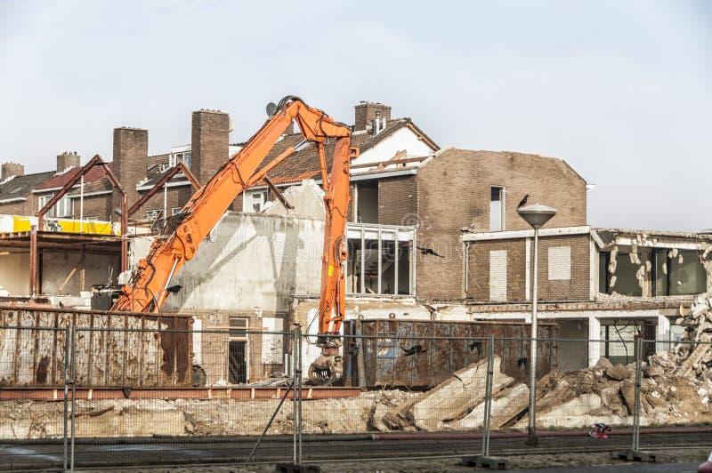 Grande vue d'un chantier de démolition photos libres de droits