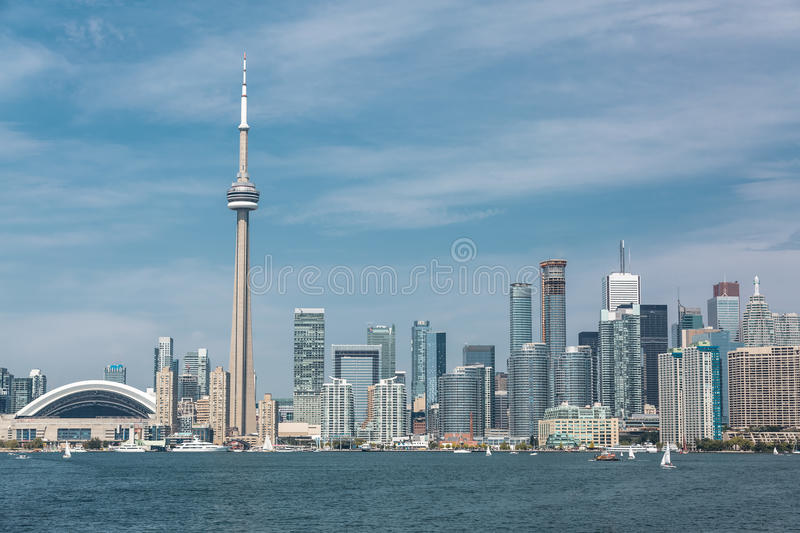 Download Grande Vue Scénique à L'horizon De Bord De Mer De Ville De Toronto Photo stock - Image du normal, stupéfier: 45362188
