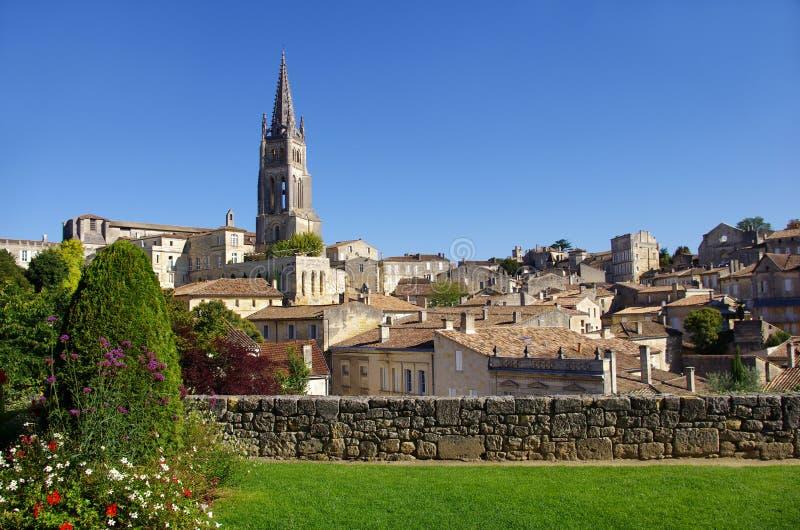 Grande vue sur Saint Emilion image libre de droits