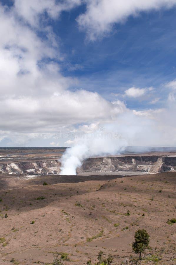Grande Vulcano Di Kilaeua Dell Isola Dell Hawai Fotografia Stock