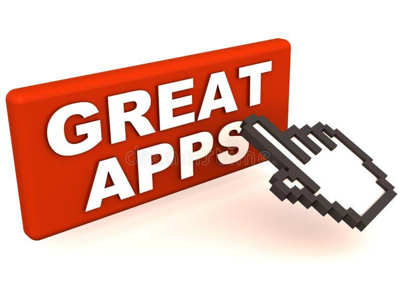Grandes apps ilustração do vetor