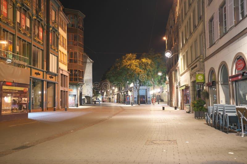 Grandes arkad Kleber uliczny złączony kwadrat w Strasburg, Francja zdjęcie stock