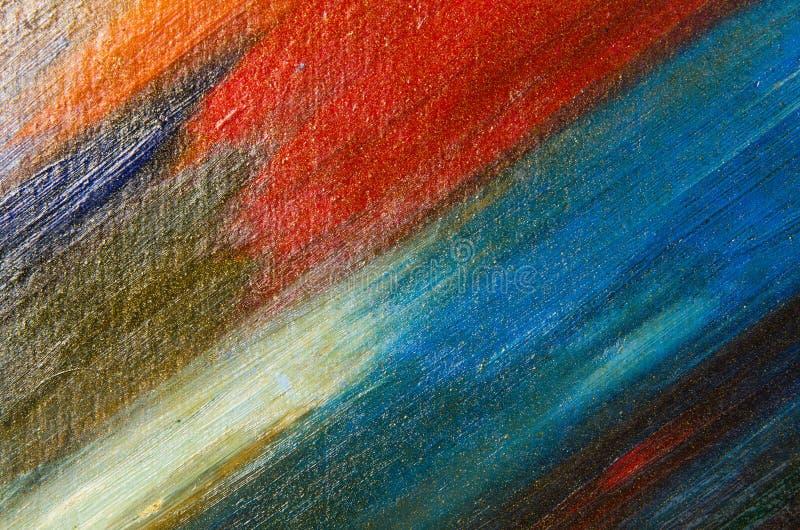 Grandes calomnies d'aquarelle sur la toile photographie stock libre de droits