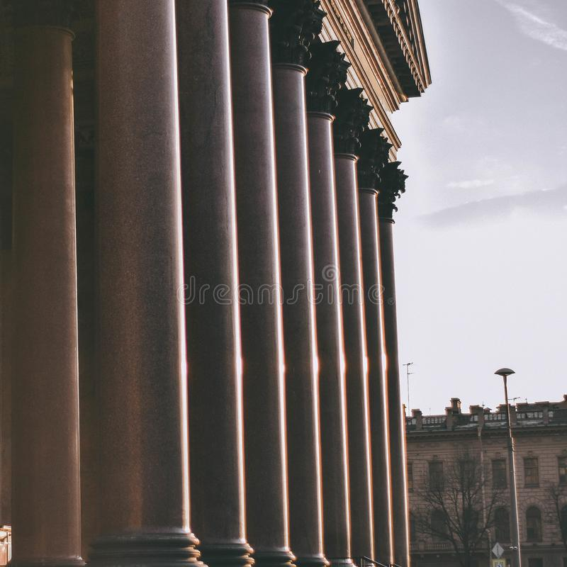 Grandes columnas de St Isaac foto de archivo libre de regalías
