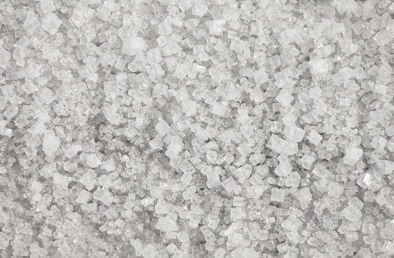Grandes cristais do fundo natural de sal fotografia de stock