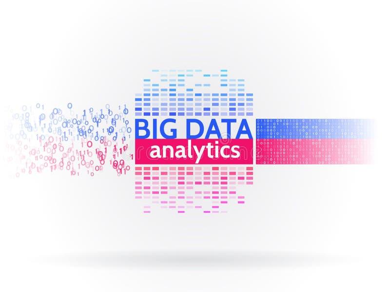 Grandes données abstraites assortissant l'information Analyse d'information Exploitation de données illustration stock