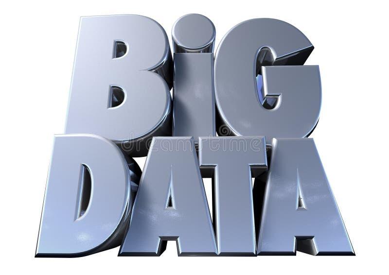 Grandes données sur le blanc illustration de vecteur