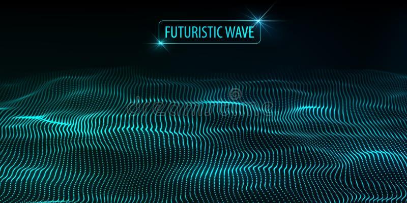 Grandes donn?es Fond futuriste de bleu de technologie Technologie de Cyber technologie de plan?te de t?l?phone de la terre de cod illustration libre de droits