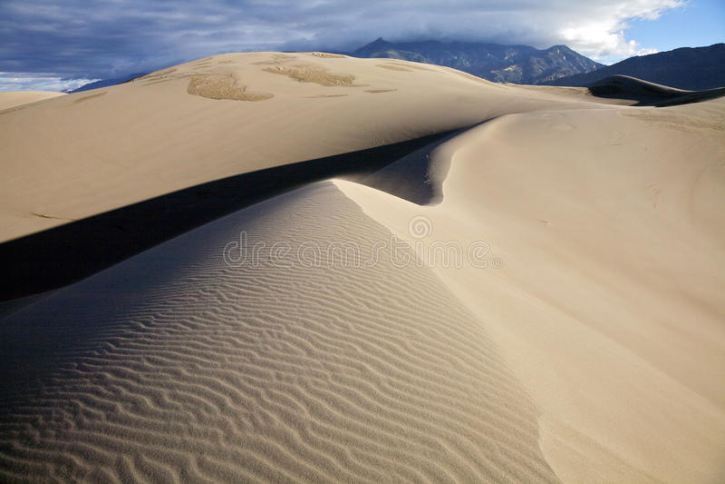 Grandes dunas de areia fotos de stock