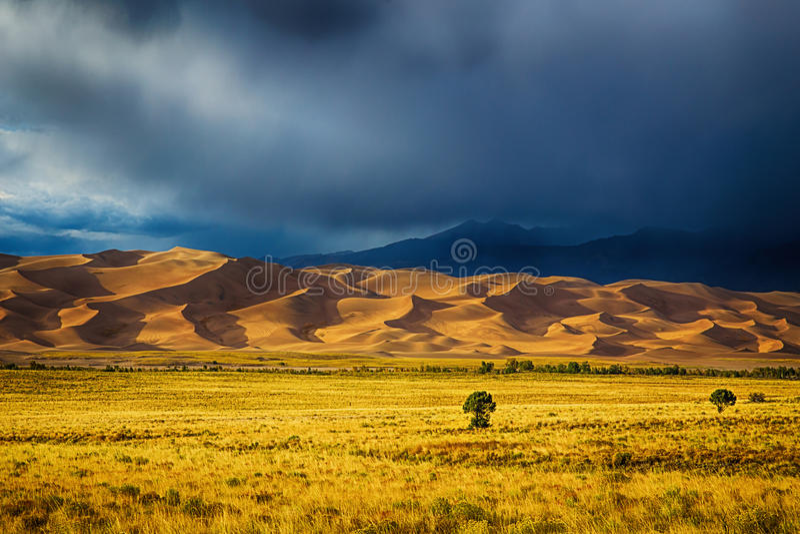 Grandes dunas de areia imagens de stock