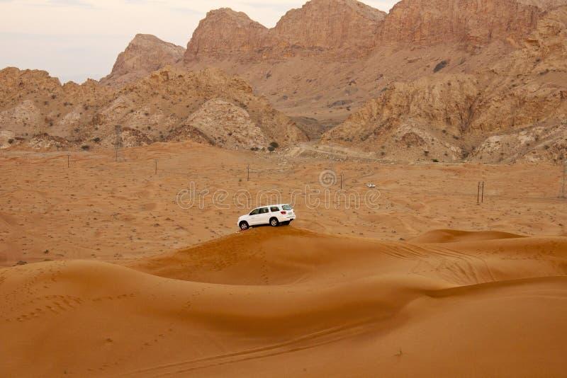 Grandes dunes de sable et chaînes de montagne image stock