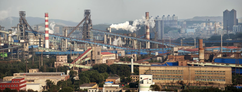 Grandes entreprises sidérurgiques image stock