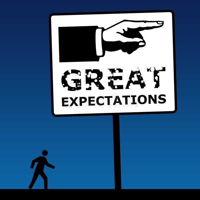 Grandes expectatives illustration libre de droits