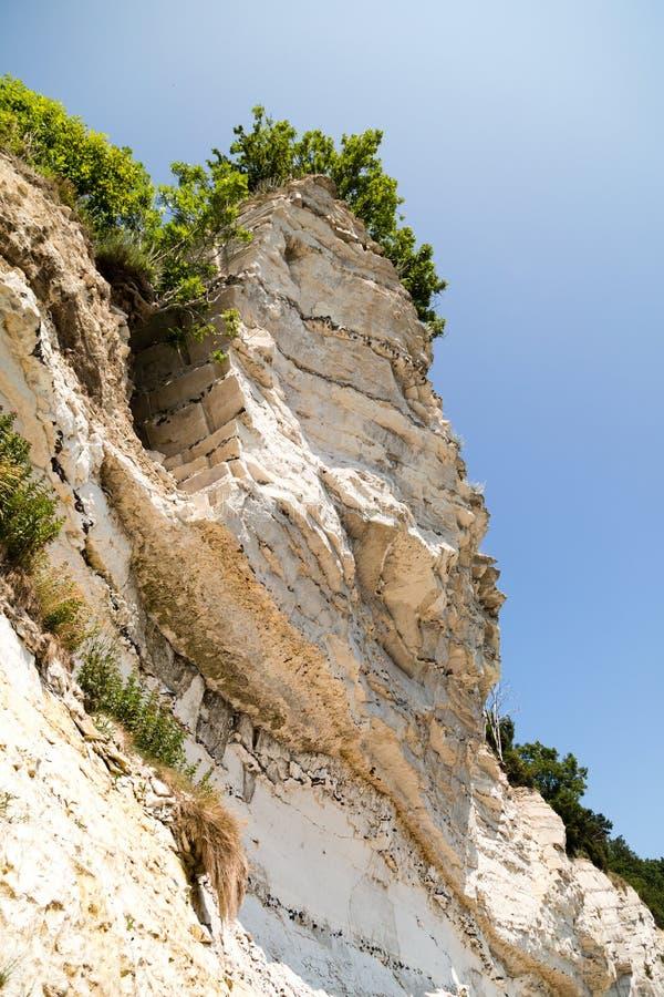 Grandes falaises de craie photo libre de droits