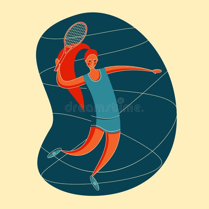 Grandes femmes de tennis illustration libre de droits