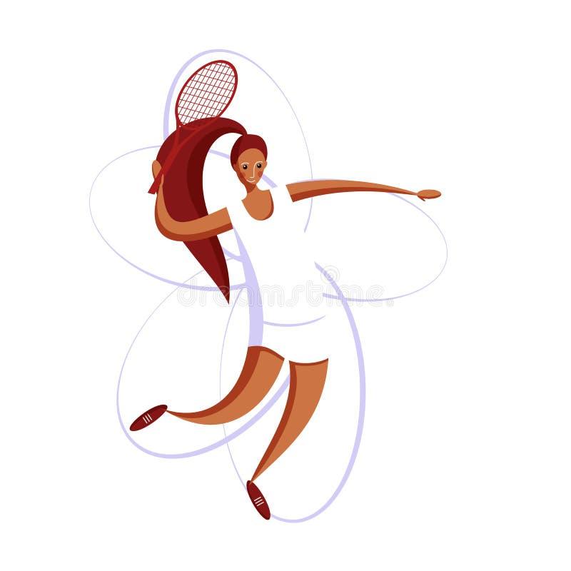 Grandes femmes de tennis illustration stock