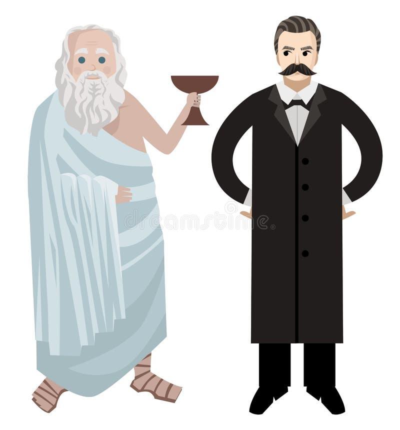 Grandes filósofos griegos y alemanes foto de archivo