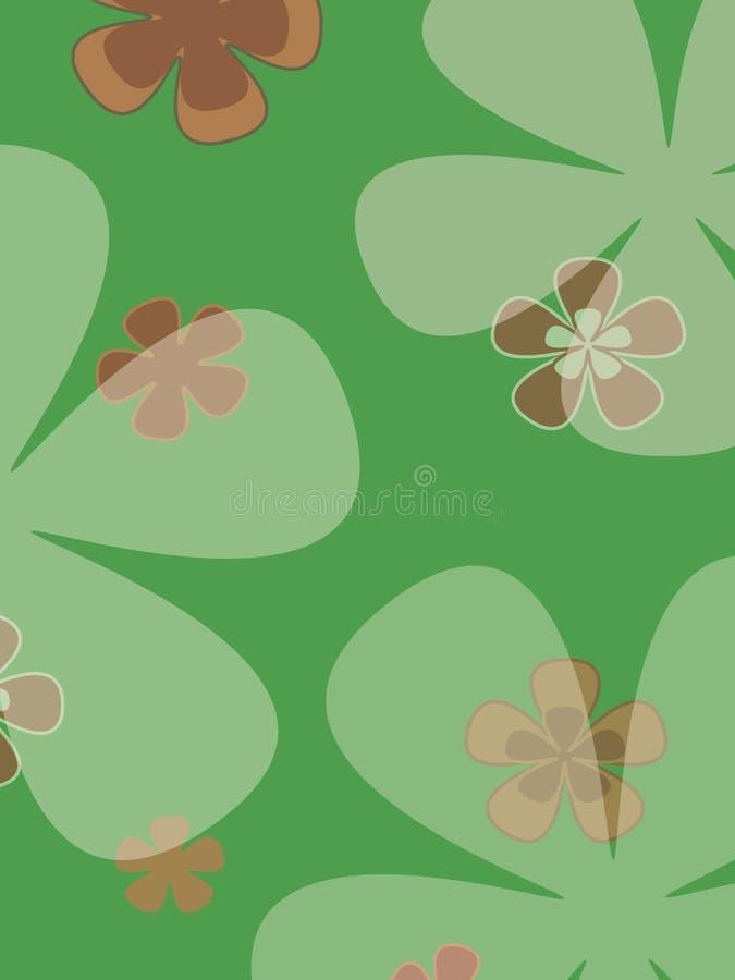 Grandes fleurs illustration de vecteur