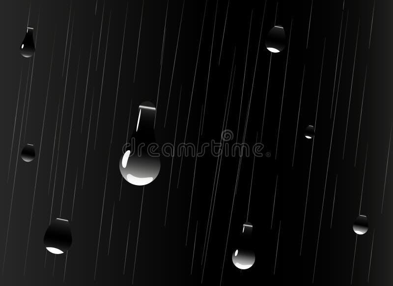 Grandes gotas da queda da chuva ilustração do vetor
