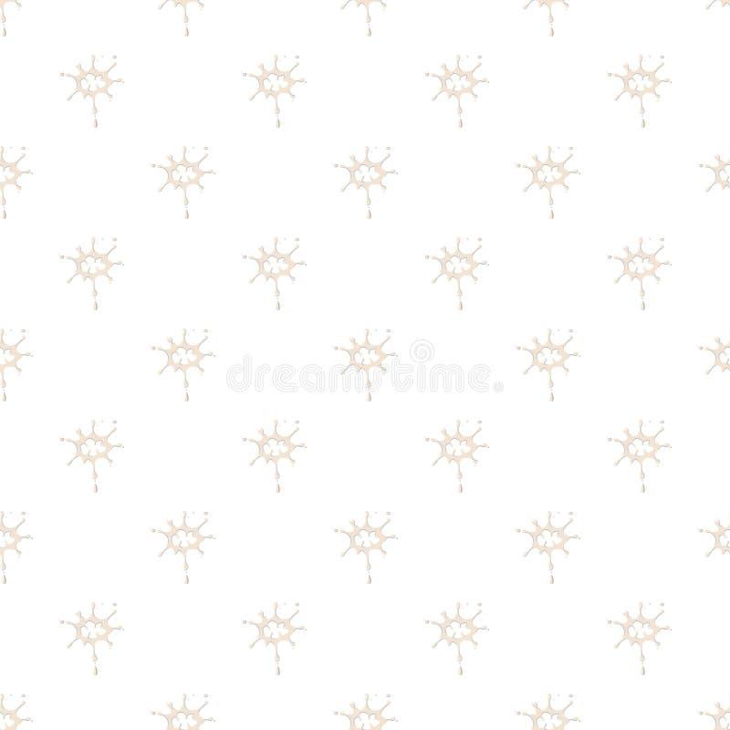 Grandes gotas do teste padrão do leite ilustração do vetor