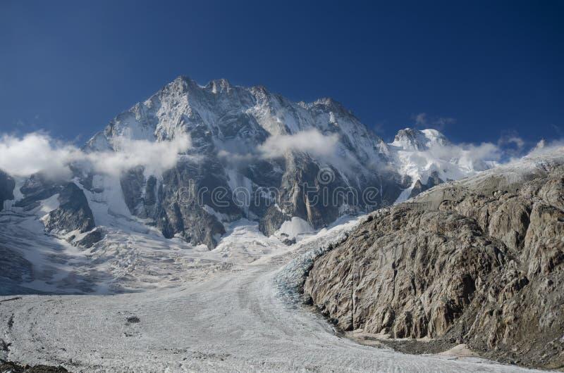 Grandes Jorasses peak in the French Alps stock photos