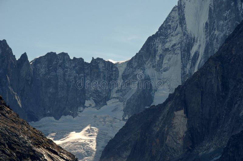 Grandes Jorasses szczyt, Francuscy Alps zdjęcia royalty free