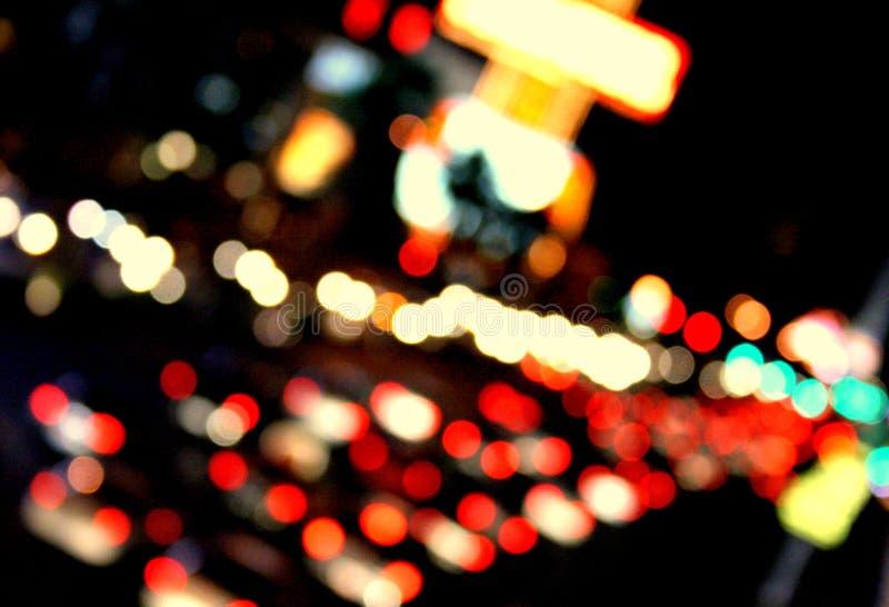grandes lumières lumineuses de ville images libres de droits