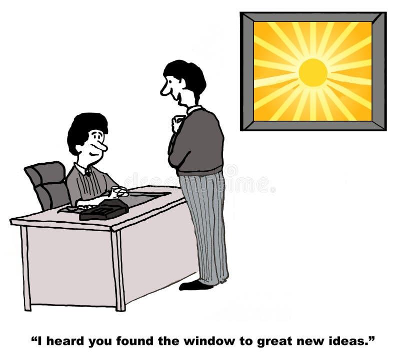 Grandes nuevas ideas stock de ilustración