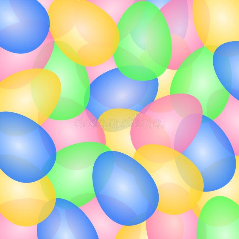 Grandes ovos da páscoa coloridos levemente transparentes ilustração do vetor