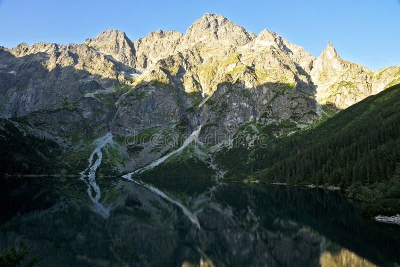 Grandes picos en las montañas polacas de Tatra fotografía de archivo libre de regalías