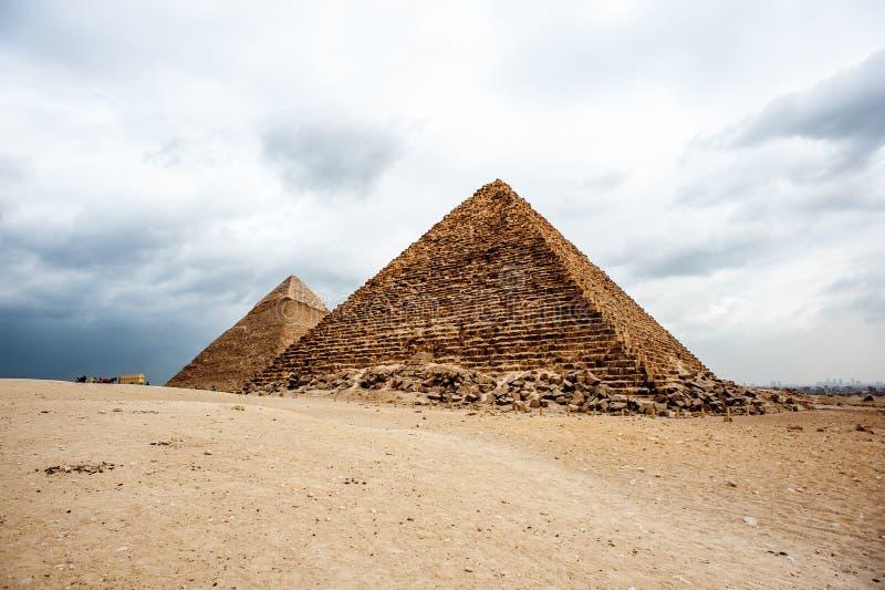 Grandes pirámides Egipto fotografía de archivo