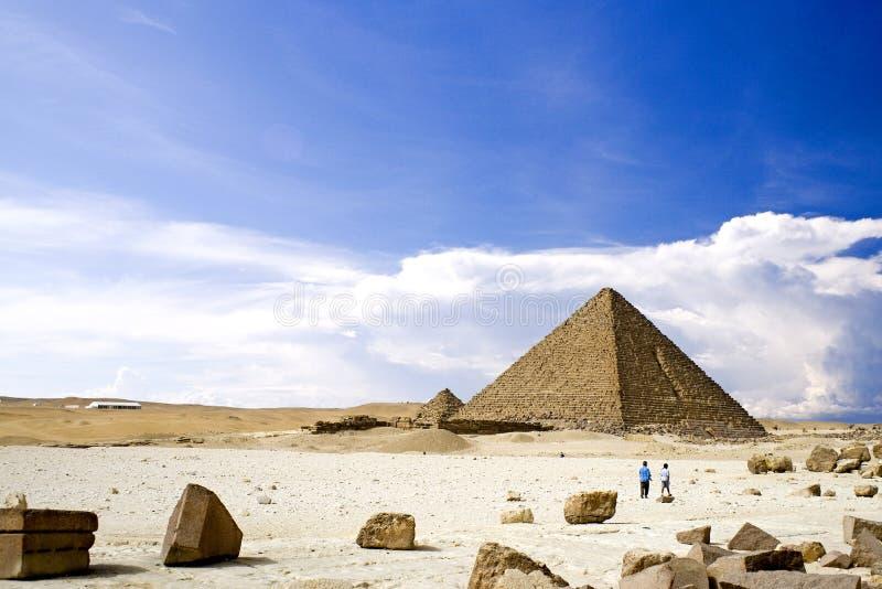 Grandes pirâmides egípcias fotografia de stock royalty free
