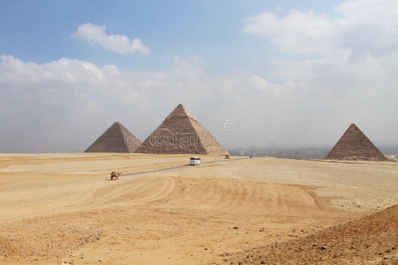 Grandes pirâmides em Giza, Egipto foto de stock royalty free
