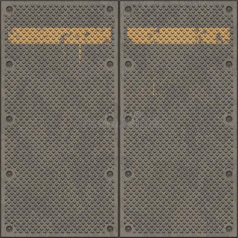 Grandes placas de metal oxidadas ilustração stock