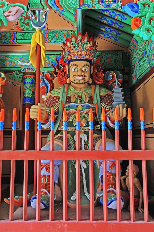 Grandes reyes divinos Statue del budista cuatro imágenes de archivo libres de regalías