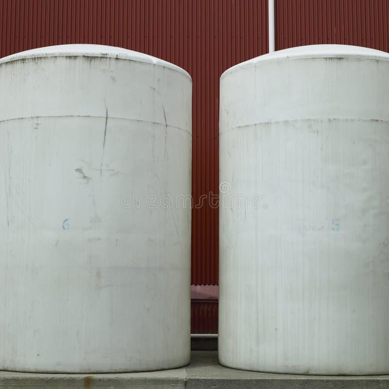 Grandes tambores brancos imagem de stock royalty free