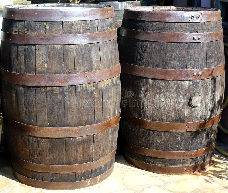 Grandes tambores de madeira foto de stock royalty free