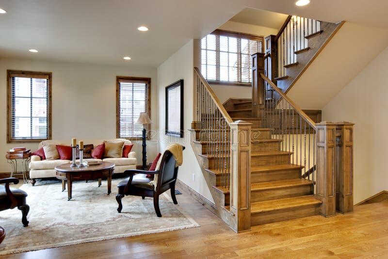 Grandes vestíbulo e Stairway fotos de stock royalty free