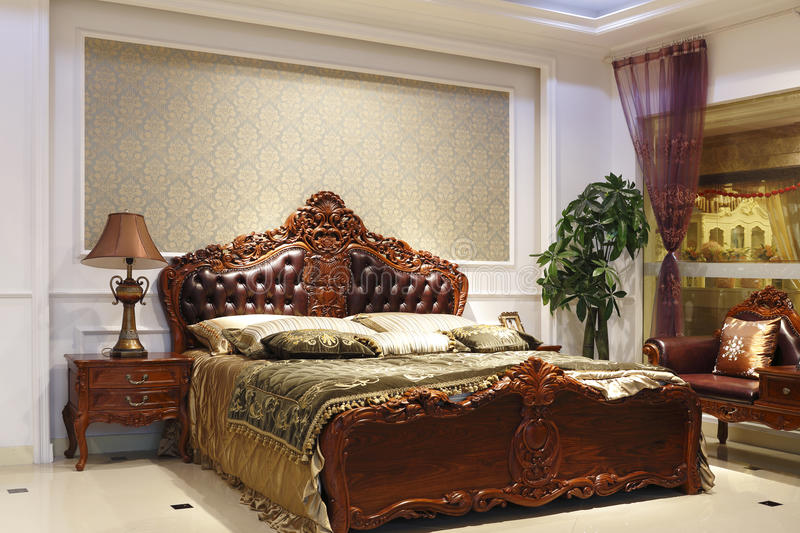 The Grandeur Of The Bedroom Stock Image Image Of Carve