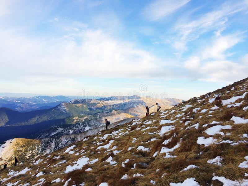 A grandeza da natureza Montanhas fotos de stock royalty free