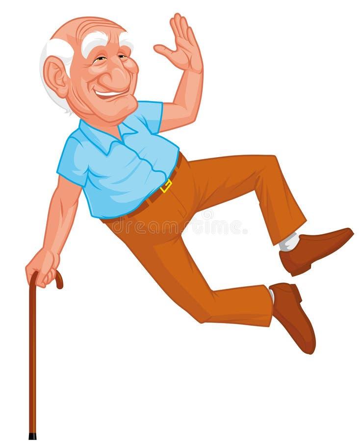 grandfather здоровый скакать иллюстрация штока