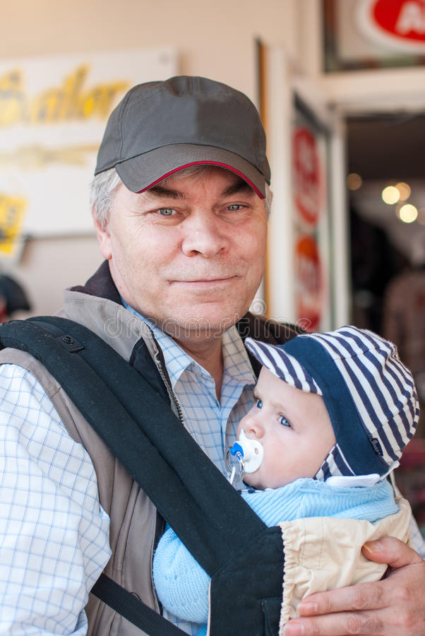 Grandfather with adorable grandchild