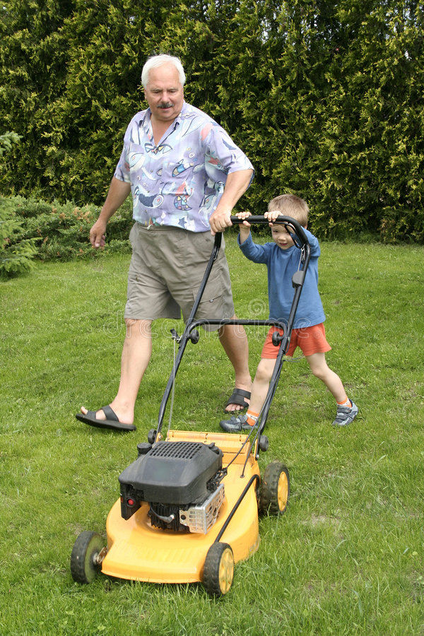 Free Grandfather And Grandson Stock Image - 886101