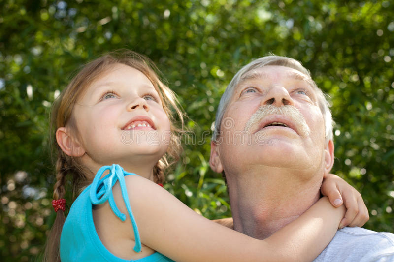 Grandfather with child royalty free stock image