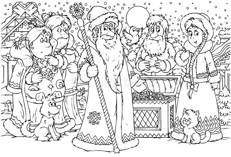 Download Grandfather Frost stock illustration. Image of rustic - 14527725