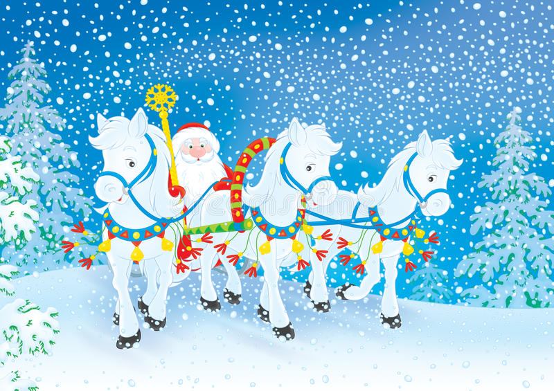 Grandfather Frost stock illustration