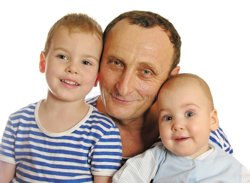 Download Grandfather With Grandchildren Stock Photo - Image: 334928