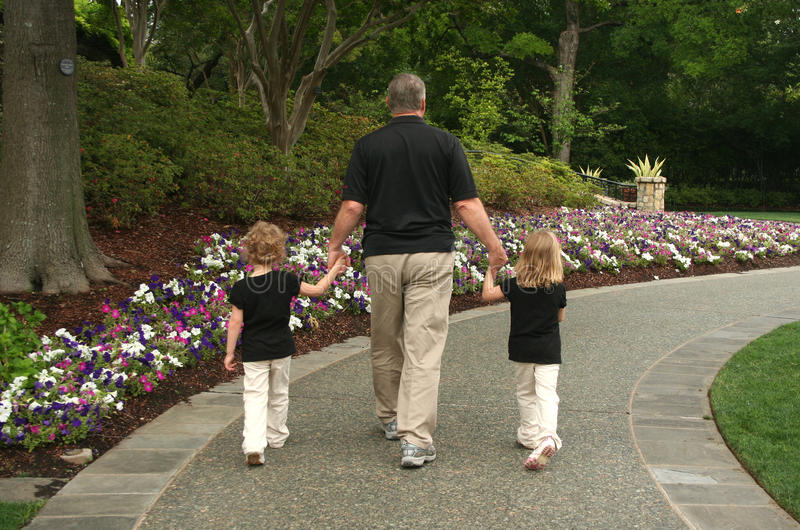 Grandfather and Grandchildren royalty free stock images